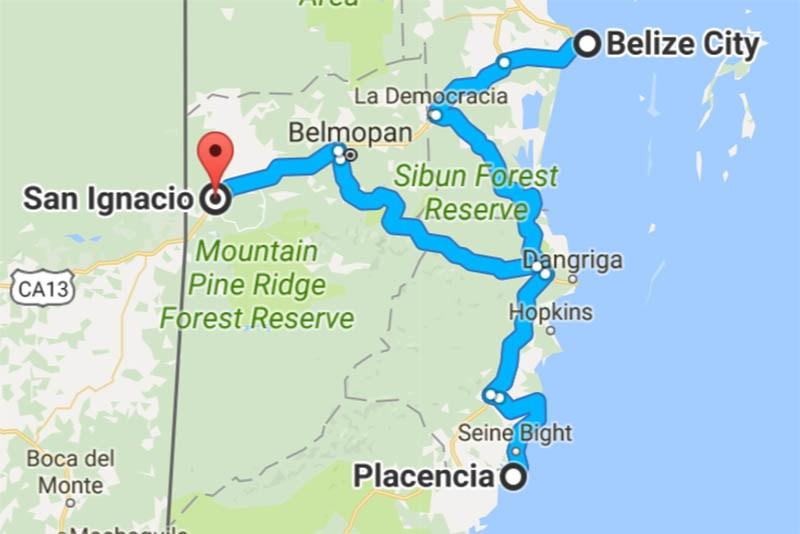 Placencia-Belize-Map