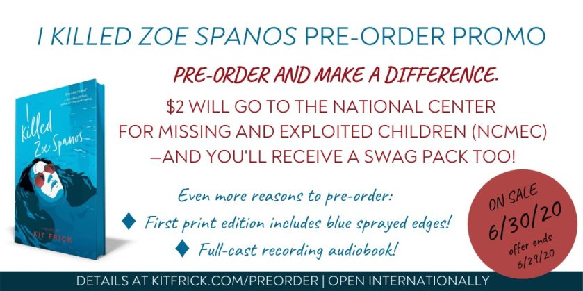 I Killed Zoe Spanos preorder campaign graphic